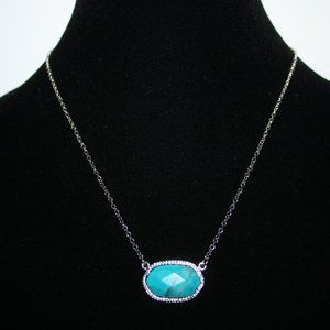 Beautiful silver and blue stone necklace adjust